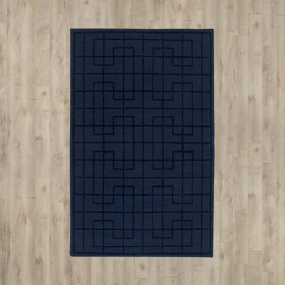 Choteau Hand-Tufted Navy Area Rug Rug Size: Rectangle 8 x 11