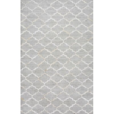 Cecilia Hand-Woven Ivory/Gray Area Rug Rug Size: Rectangle 8 x 10