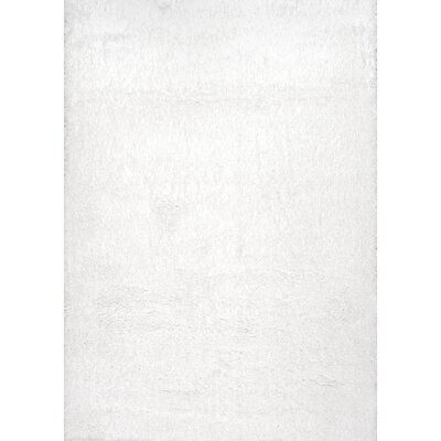 Celsian White Area Rug Rug Size: 53 x 76