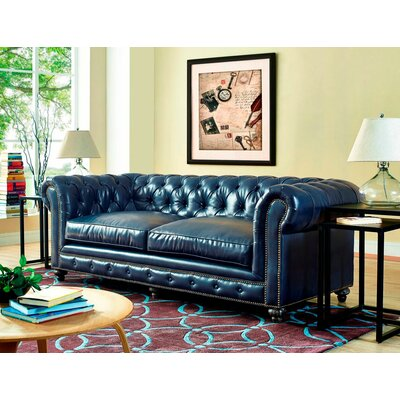 Cateline Leather Upholstery Chesterfield Sofa