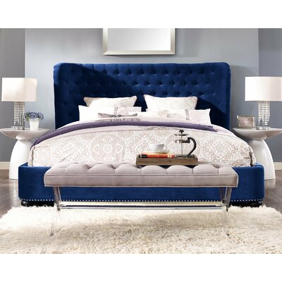 Thibaut Upholstered Platform Bed Size: Queen, Upholstery: Blue