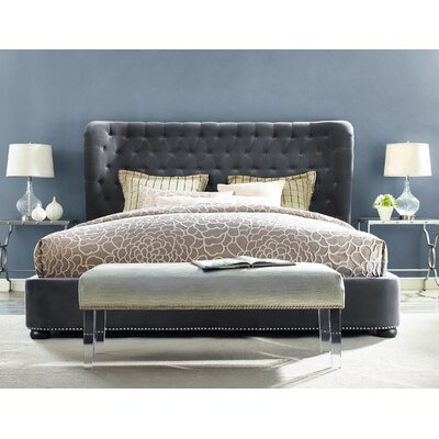Thibaut Upholstered Platform Bed Size: Queen, Color: Gray