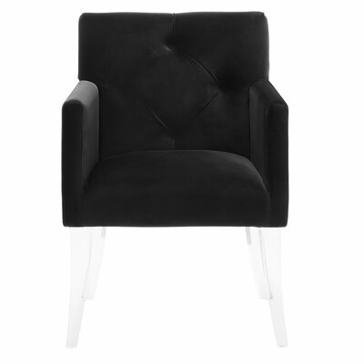 Leopoldo Modern Armchair Color: Black
