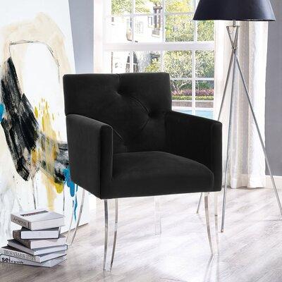 Leopoldo Armchair Upholstery: Black