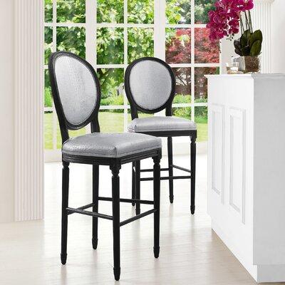 Ilda 26 Bar Stool Upholstery: Silver