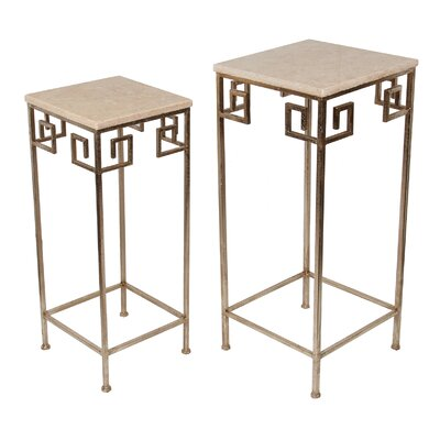 Guillelmina 2 Piece Marble Nesting Tables