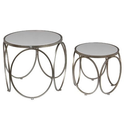 Gunnel 2 Piece Nesting Tables Color: Metal