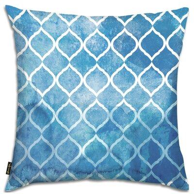 Heroux Global Brocade Lumbar Pillow Color: Blue
