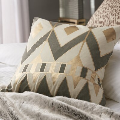 Greer Throw Pillow Color: Gray
