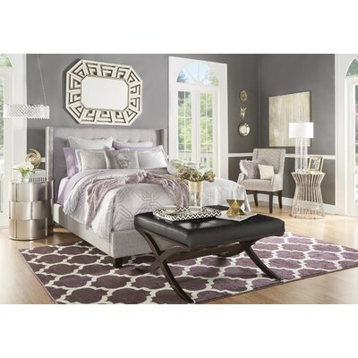 Gittan Upholstered Panel Bed Size: Full, Upholstery: Dark Gray