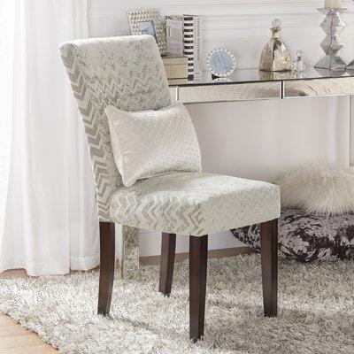 Oliver Chevron Print Parson Chair
