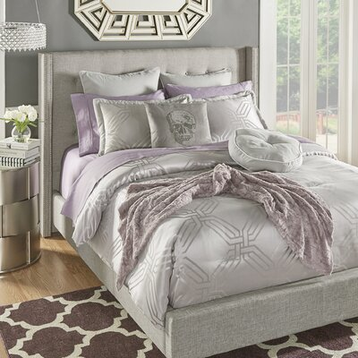 Ignmar 6 Piece Reversible Comforter Set Size: Queen
