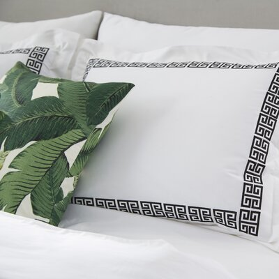 Bourg Reversible Duvet Cover Set Size: Full / Queen, Color: Black