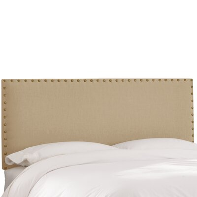 Upholstered Panel Headboard Size: Full, Upholstery: Sandstone