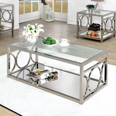 Frederika Coffee Table Color: Chrome