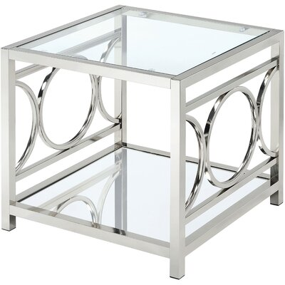 Frederika End Table Color: Chrome