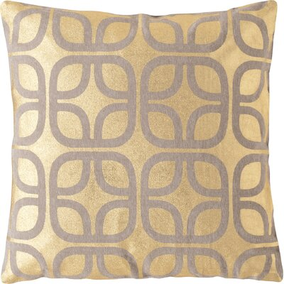 Astoria Linen Throw Pillow Size: 22 H x 22 W, Color: Gold