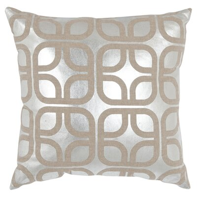 Astoria Linen Throw Pillow Size: 22 H x 22 W, Color: Silver