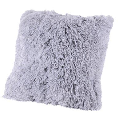 Broughton Very Soft and Comfy Plush Faux Fur Throw Pillow Color: Silver