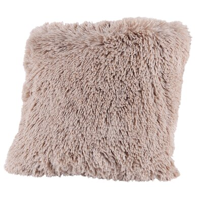 Broughton Very Soft and Comfy Plush Faux Fur Throw Pillow Color: Taupe