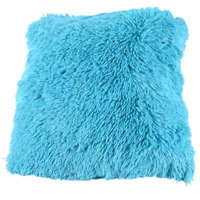 Broughton Very Soft and Comfy Plush Faux Fur Throw Pillow Color: Turquoise