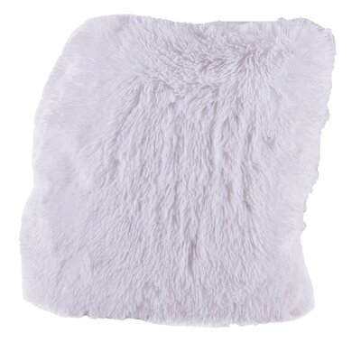 Carnot Very Soft and Comfy Plush Throw Pillow Color: Pure White