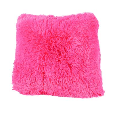 Broughton Very Soft and Comfy Plush Faux fur Throw Pillow Color: Hot Pink