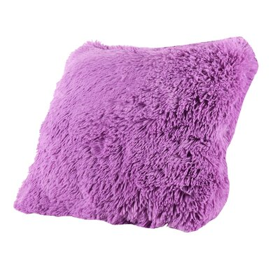 Broughton Very Soft and Comfy Plush Faux fur Throw Pillow Color: Lilac