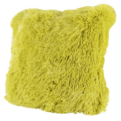 Broughton Very Soft and Comfy Plush Faux fur Throw Pillow Color: Lime