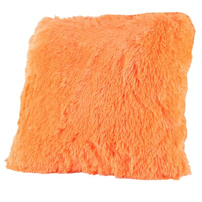 Broughton Very Soft and Comfy Plush Faux Fur Throw Pillow Color: Orange
