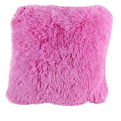Broughton Very Soft and Comfy Plush Faux Fur Throw Pillow Color: Pink