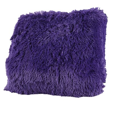 Broughton Very Soft and Comfy Plush Faux fur Throw Pillow Color: Purple