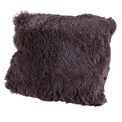 Carnot Very Soft and Comfy Plush Throw Pillow Color: Chocolate