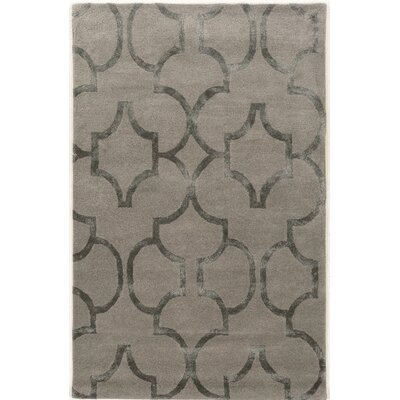 Leone Hand-Tufted Gray Area Rug Rug Size: Rectangle 8 x 11