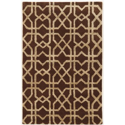 Leone Hand-Tufted Brown/Beige Area Rug Rug Size: Rectangle 2 x 3