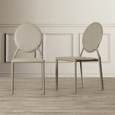 Barnabas Side Chair Upholstery: Bonded Leather+Sponge - Gray