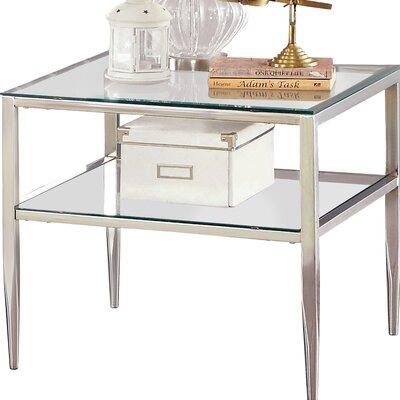 Ignacio Open Shelf End Table Color: Chrome