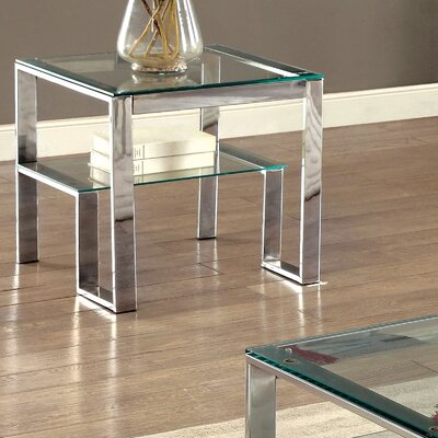 Scheider Stacked Shelf End Table Color: Chrome