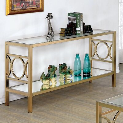 Heverlee Console Table Color: Champagne