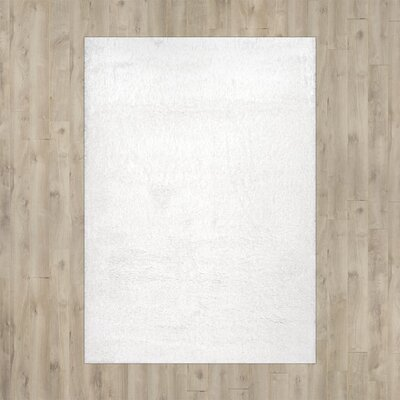 Celsian White Area Rug Rug Size: Round 53