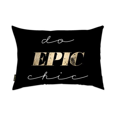Rasen Do Epic Chic Lumbar Pillow Size: 14 X 20