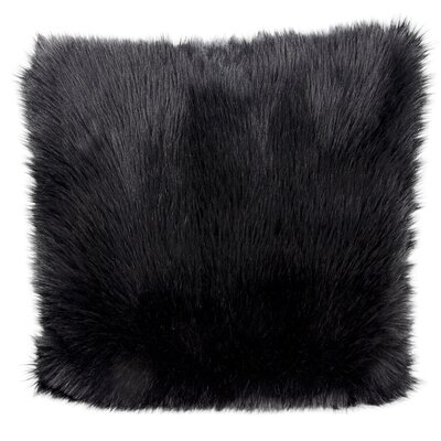 Yaritza Faux Fur Throw Pillow Color: Black