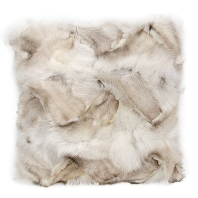 Nathanson Faux Fur Throw Pillow Color: Skin Silver