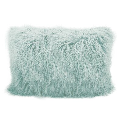 Bender Wool Lumbar Throw Pillow Color: Seafoam