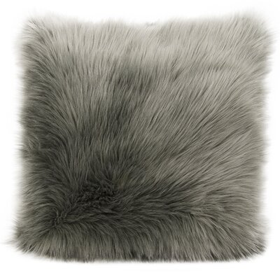Yaritza Faux Fur Throw Pillow Color: Silver/Gray