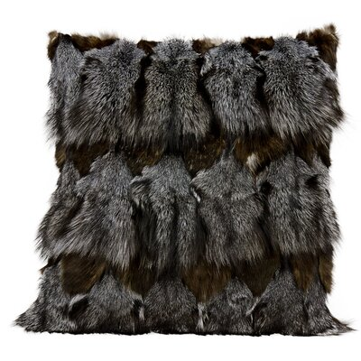 Nathanson Faux Fur Throw Pillow Color: Dark Gray
