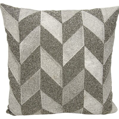 Gilbert Natural Hide Throw Pillow Color: Gray