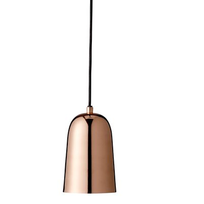 Callista 1-Light Mini Pendant Shade Color: Copper Electroplated