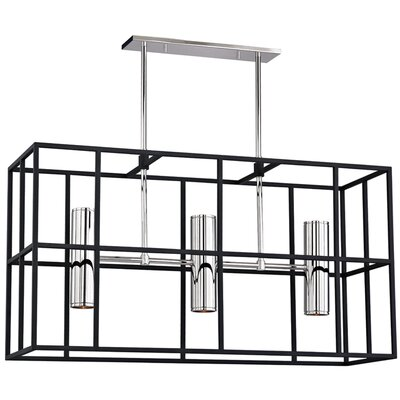 Veronica 5-Light Kitchen Island Pendant Finish: Polished Nickel