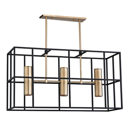 Veronica 5-Light Kitchen Island Pendant Finish: Aged Brass